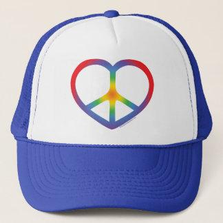 Regenbogen-Herz, Liebe, Friedenszeichen Truckerkappe