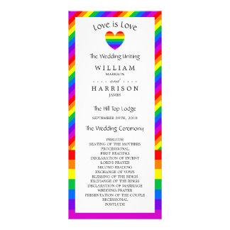 Regenbogen-Herz-Liebe ist Liebe-Wedding Programm