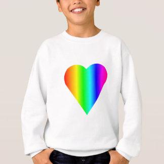 Regenbogen-Herz Sweatshirt