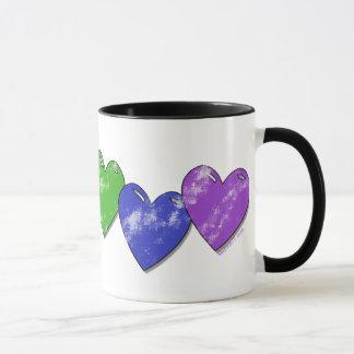 Regenbogen-Herz-Tasse Tasse