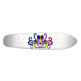 Regenbogen-Herz und Lilie 18,4 Cm Mini Skateboard Deck