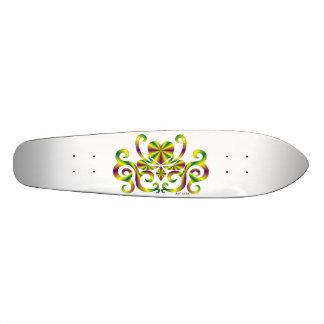 Regenbogen-Herz und Lilie 18,7 Cm Mini Skateboard Deck