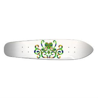 Regenbogen-Herz und Lilie 19,1 Cm Old School Skateboard Deck