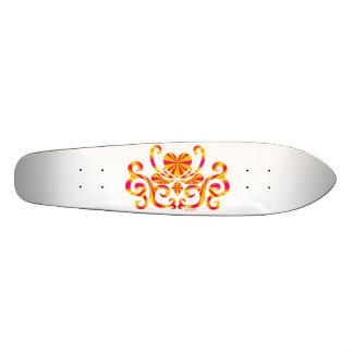 Regenbogen-Herz und Lilie 20,6 Cm Skateboard Deck