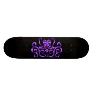 Regenbogen-Herz und Lilie Skateboarddeck
