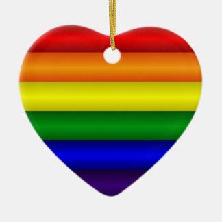 Regenbogen-Herz-Verzierung Keramik Ornament