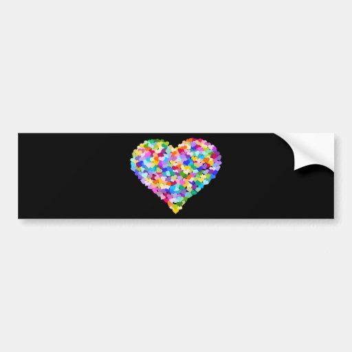 Regenbogen-HerzConfetti Auto Aufkleber