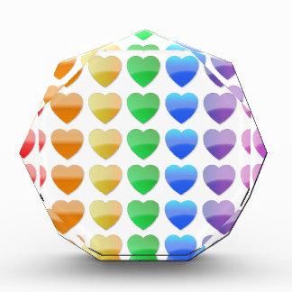 Regenbogen-Herzen Auszeichnung