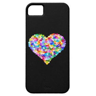 Regenbogen-HerzenConfetti iPhone 5 Schutzhüllen