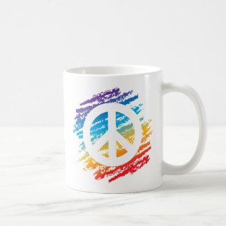 Regenbogen-Hieb-Frieden Kaffeetasse