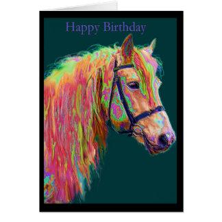 Regenbogen-Hochland-Pony Karte
