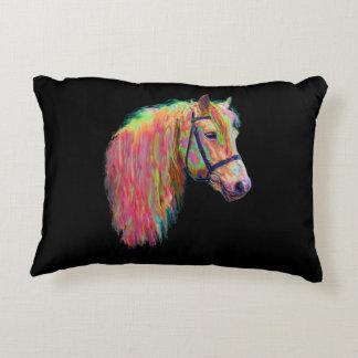 Regenbogen-Hochlandkuh und -pony, fertigen mich Zierkissen