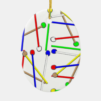 Regenbogen-Holzhammer Keramik Ornament