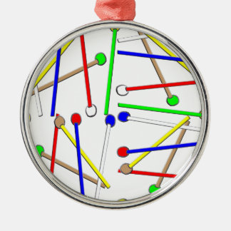 Regenbogen-Holzhammer Silbernes Ornament