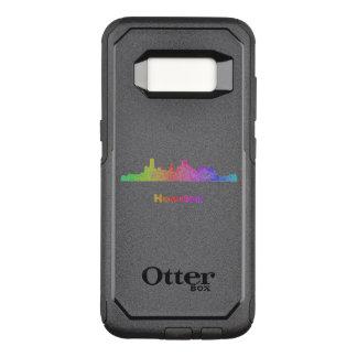 Regenbogen-Houston-Skyline OtterBox Commuter Samsung Galaxy S8 Hülle