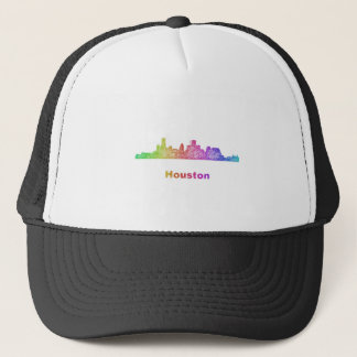 Regenbogen-Houston-Skyline Truckerkappe