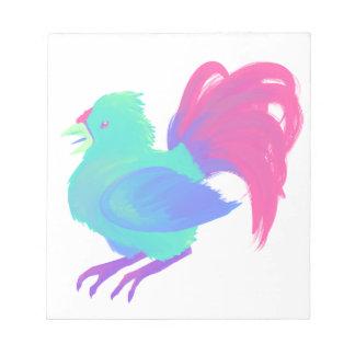 Regenbogen-Huhn Notizblock