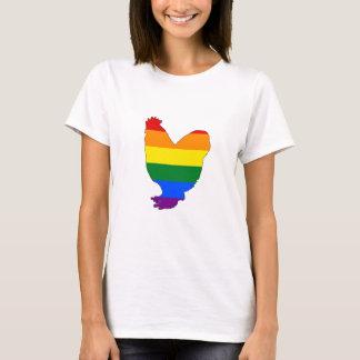 Regenbogen-Huhn T-Shirt