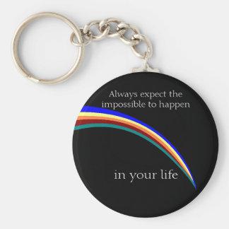 Regenbogen im nächtlicher Himmel keychain Schlüsselanhänger