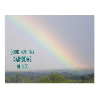 Regenbogen inspirierend - Postkarte