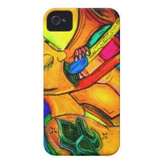 Regenbogen-Jazz-Mann iPhone 4 Cover