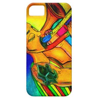 Regenbogen-Jazz-Mann iPhone 5 Hüllen