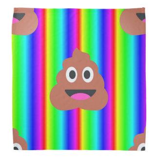 Regenbogen kacken emoji Bandana Halstuch