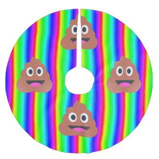 Regenbogen kacken emoji polyester weihnachtsbaumdecke