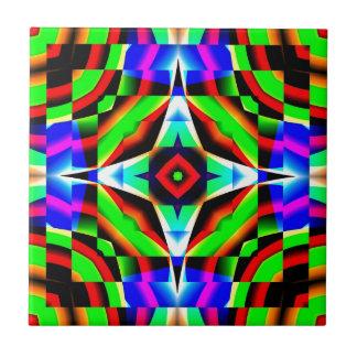 Regenbogen-Kaleidoskop Keramikfliese