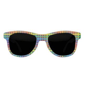 Regenbogen-kariertes Schwarzes Sonnenbrille