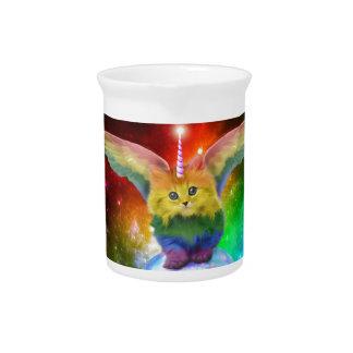 Regenbogen-Kätzchen-Einhorn-Goldfisch-Raum-Freunde Krug