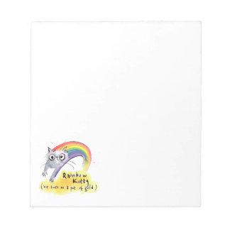 Regenbogen-Katze Notizblock
