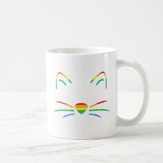 Regenbogen-Katzen-Bart-Klassiker-Tasse Kaffeetasse