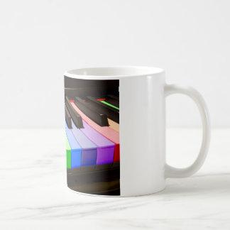 Regenbogen-Klavier Kaffeetasse