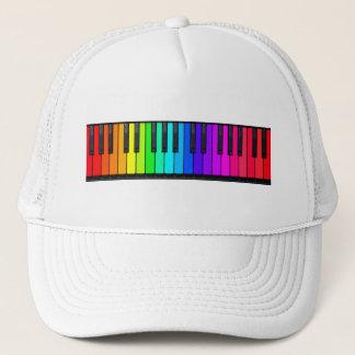 Regenbogen-Klavier-Tastatur-Hut Truckerkappe