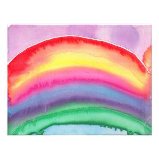 Regenbogen klein individuelle einladungen
