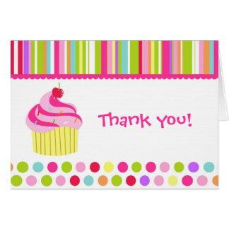 Regenbogen-kleiner Kuchen danken Ihnen Karte