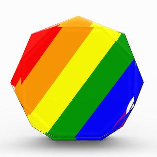 Regenbogen-Kopf Acryl Auszeichnung