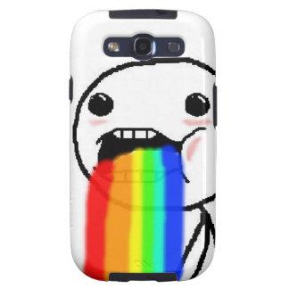 Regenbogen kotzen Comic-Gesicht Galaxy SIII Hülle