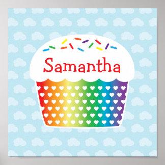 Regenbogen-Kuchen-Plakat Poster