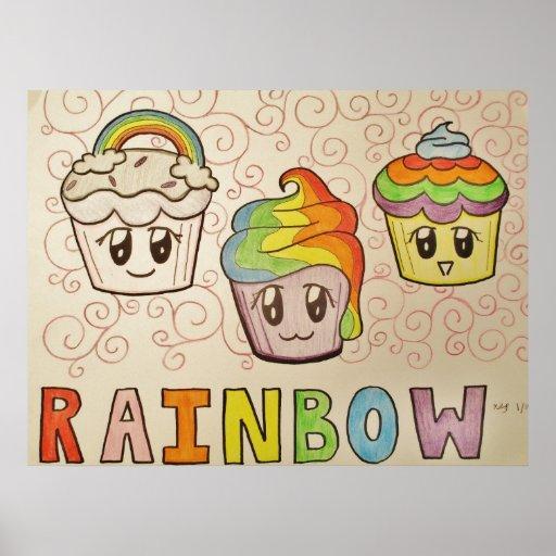Regenbogen-Kuchen-Plakat