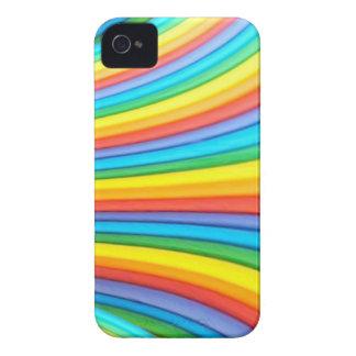 Regenbogen-Kunst-BlackBerry-mutiger kaum dort iPhone 4 Case-Mate Hülle