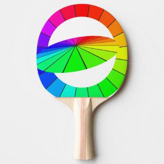 Regenbogen-Kunst-Täuschungs-Tischtennis-Geschenke Tischtennis Schläger