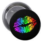 Regenbogen-Kuss-Knopf Runder Button 7,6 Cm