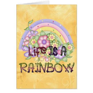 Regenbogen-Leben Karte