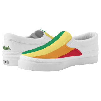 Regenbogen-Leinwand-Slipper Slip-On Sneaker