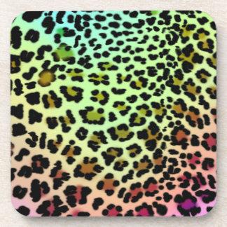 Regenbogen-Leopard-Druck-Untersetzer Untersetzer