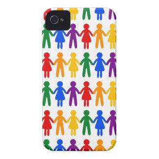 Regenbogen-Leute-Muster iPhone 4 Hülle
