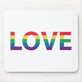 Regenbogen-Liebe-Buchstaben Mousepad