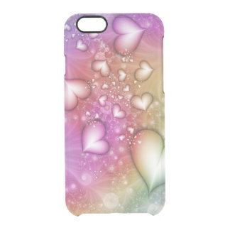 Regenbogen-Liebe-Fraktal Durchsichtige iPhone 6/6S Hülle